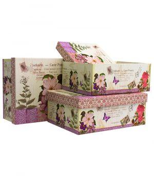 Dárková krabice FLOWER, sada 3 ks