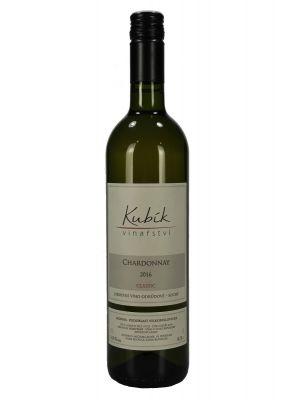 Chardonnay 2016, jakostní víno, Vinařství Kubík