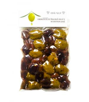 Originální řecké olivy, marinované, D.M.Hermes