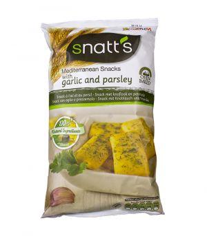 Česnekový chléb s petrželí, Snatts, Grefusa, Španělsko