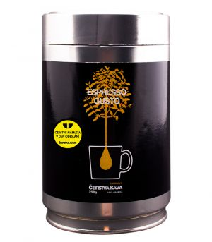 Čerstvá káva Espresso Gusto, mletá, dóza