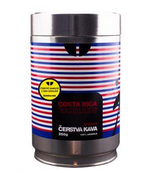 Čerstvá káva Costa Rica Tarrazu, mletá, dóza