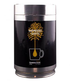 Čerstvá káva Espresso Gusto zrnková dóza 250 g