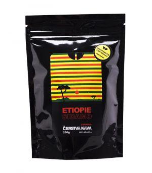 Čerstvá mletá káva Etiopie Sidamo, Arabica, Michal Jirek
