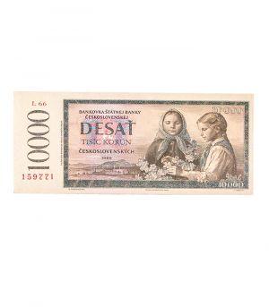 Bankovka státní banky československé 10 000 Kčs, 60g