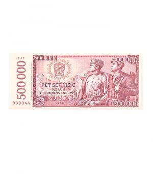 Bankovka státní banky československé 500 000 Kčs, 60g