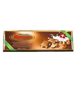 Premium mléčná čokoláda s celými lískovými ořechy, Chocolat Alprose