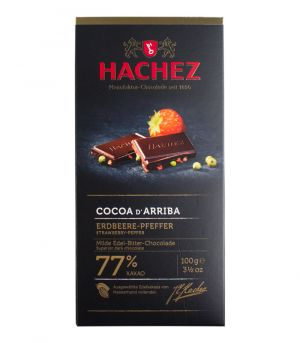 Extra hořká čokoláda - jahoda se zeleným pepřem, Bremer Hachez Chocolade Gmbh