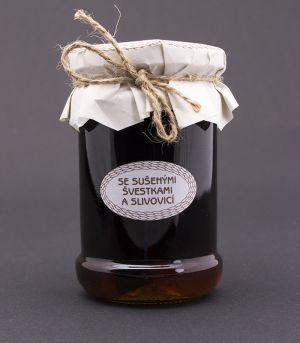 Medová chuťovka, se sušenými švestkami a slivovicí
