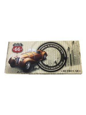 Belgická mléčná čokoláda s lískovými ořechy - RETRO CAR 400g