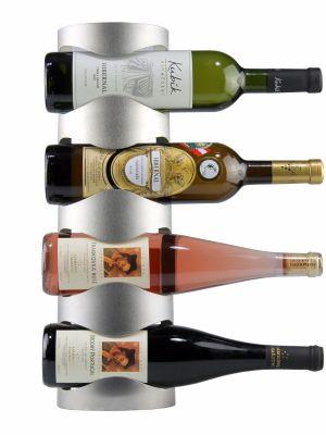 Nerezový stojan na 4 vína, nástěnný STOP0004