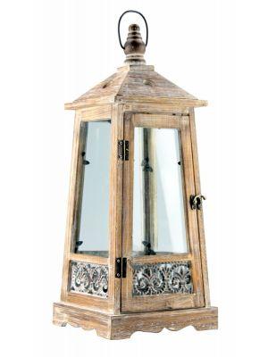 Dřevěná lucerna - LT0029bs