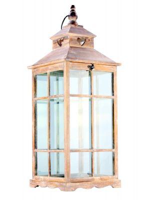 Dřevěná lucerna - LT0216bv