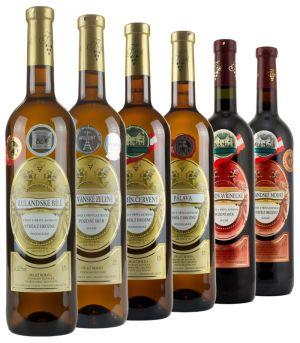 vinařství Krist Tomáš, degustační set vín, 6 x 0,75 l, 2012 - 2015, ds1