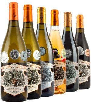 vinařství Krist Tomáš, degustační set Kristovy poklady, 6 x 0,75 l, 2012 - 2015, ds3