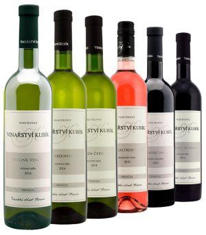 Vinařství Kubík, degustační set, 6 x 0,75 l, 2012 - 2015, ds7