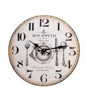 Dřevěné hodiny  BON APPETIT
