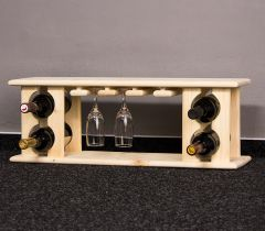 Stojan na víno na 4 lahve - VN