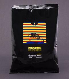 Čerstvá káva Kolumbie Supremo, zrnková
