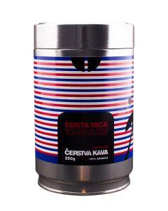 Čerstvá káva Costa Rica Tarrazu, zrnková, dóza
