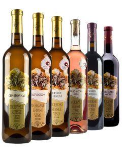 Degustace vín, Vinařství Krist Tomáš, 6 lahví