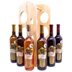 Degustační sada vín se stojanem