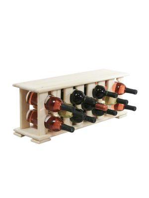 Stojan na víno na 11 lahví - VN natur