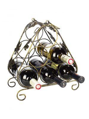 Stojan na víno na 6 lahví - STOV - bronz
