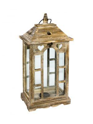 Dřevěná lucerna - LT0146bm