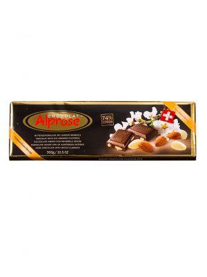 Premium hořká čokoláda s mandlemi, Chocolat Alprose