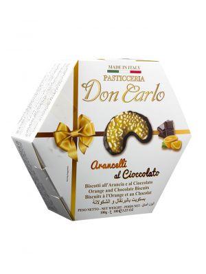 Sušenky s pomerančovou příchutí v čokoládě DON CARLO, 100 g
