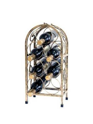 Stojan na víno na 7 lahví - STOV - bronz