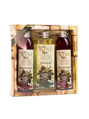 Dárkové balení Wine Spa - pěna, gel, šampon