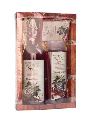 Dárkové balení Wine Spa - vl. šampon, lázeň, mýdlo