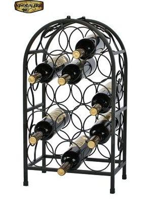 Stojan na víno na 14 lahví - černý