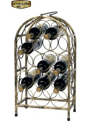 Stojan na víno na 14 lahví - bronz
