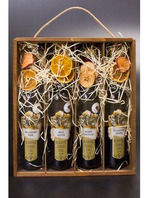Dárková kazeta Nadine, mořená - 4 ks vína