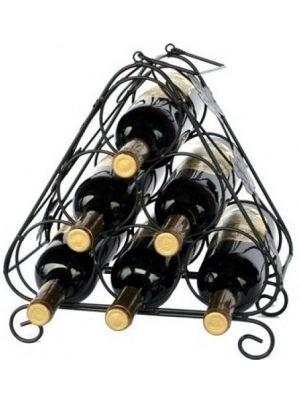 Stojan na víno na 6 lahví - STOV - černý