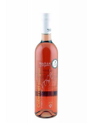 Cabernet Sauvignon rosé 2016, výběr z hroznů, Vinařství Maňák