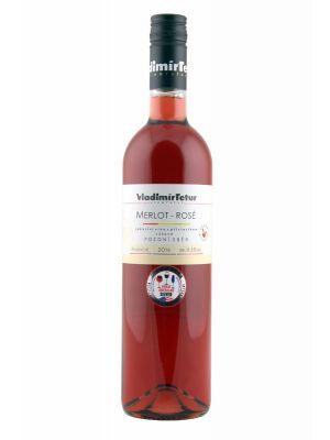 Merlot - Rosé 2016, pozdní sběr, Vinařství Vladimír Tetur