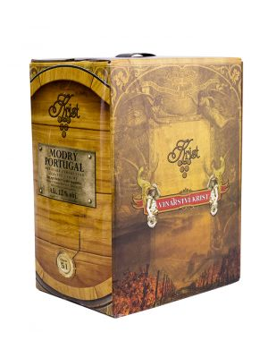 Modrý Portugal - Bag in Box 5 l, zemské víno, Vinařství Krist Tomáš