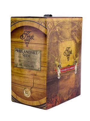 Rulandské šedé - Bag in Box 5 l, zemské víno, Vinařství Krist Tomáš