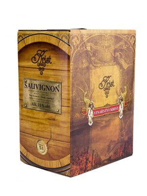 Sauvignon - Bag in Box 5 l, zemské víno, Vinařství Krist Tomáš