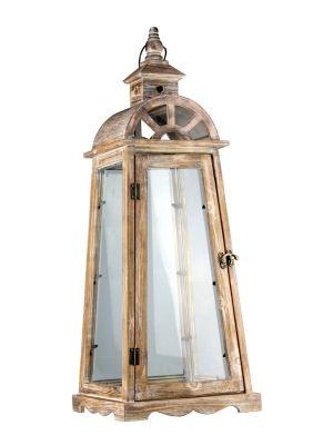 Dřevěná lucerna - LT0040bv
