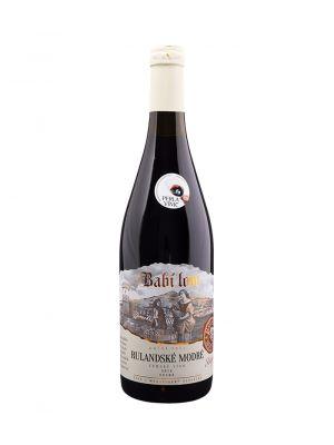 Rulandské modré 2014, ruční sběr, zemské víno, Babí lom