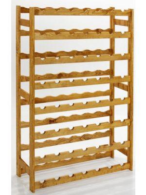 Stojan na víno na 56 lahví - RV1 - Kaštan