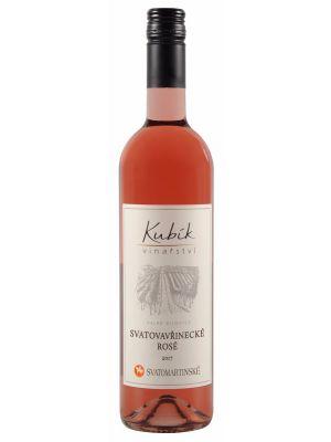 Vinařství Kubík, Svatomartinské Svatovavřinecké rosé, 2017, 0,75 l
