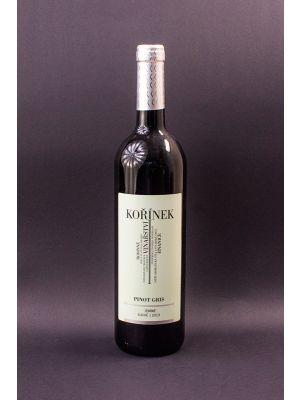 Pinot Gris 2013, zemské víno, suché, vinařství Kořínek