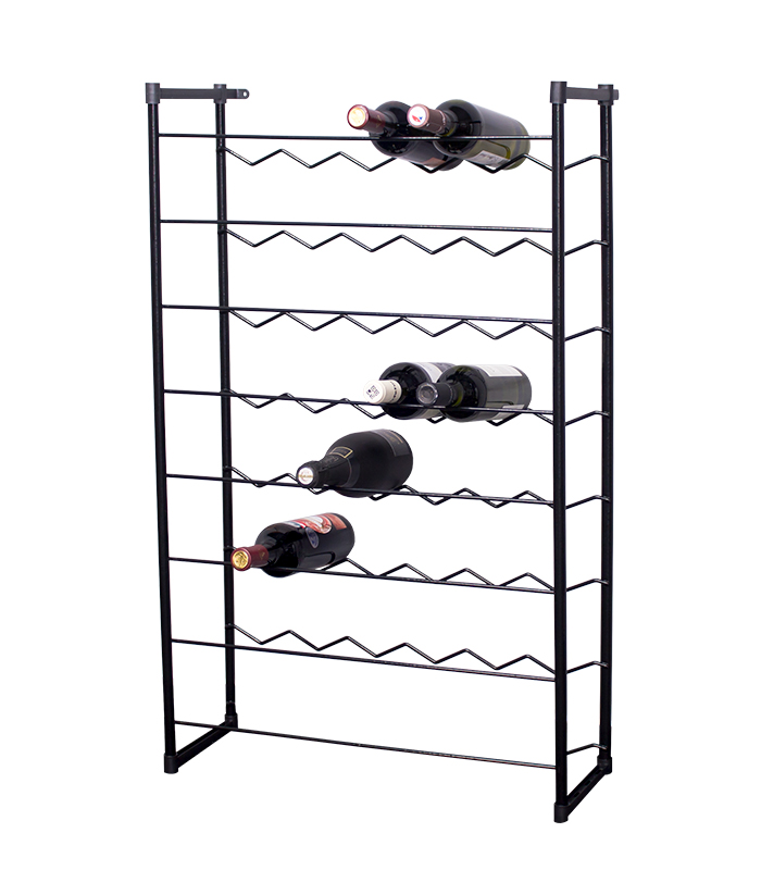 Stojan na víno na 48 lahví - KLAS - černá