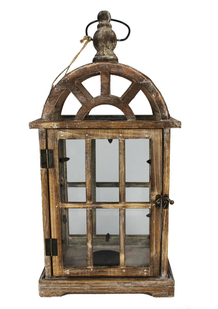 Drevený lampáš - LT0037bv